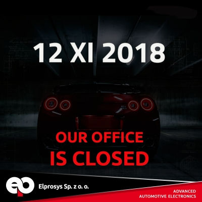 We inform that 12 XI 2018 our office will be closed.