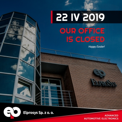 We inform that 22 IV 2019 our office will be closed.